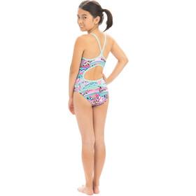Dolfin Print Keyhole One Piece Swimsuit Girls cotton candy